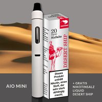 e-Zigarette Einsteiger-Set red kiwi AIO MINI mit Desert Ship e-liquid